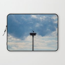 A Stork among the Clouds Laptop Sleeve