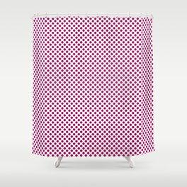 Jazzberry Jam Polka Dots Shower Curtain