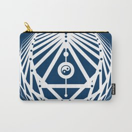 Radiant Abundance (blue-white) Carry-All Pouch