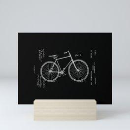 Vintage Bicycle Patent Black Mini Art Print