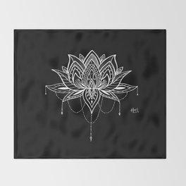 Lotus Love Throw Blanket