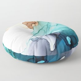 Into the waves Floor Pillow