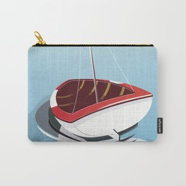 Northumberland Whitley Bay travel poster Carry-All Pouch