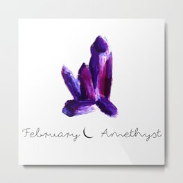 february amethyst Metal Print