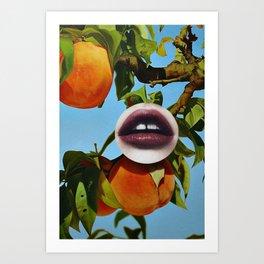 UR A PEACH Art Print