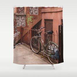 East Village Bike Shower Curtain