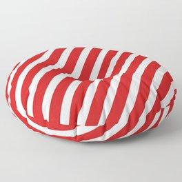 Red Diagonal Stripes Floor Pillow