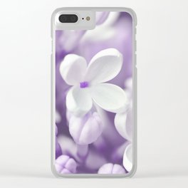Lilac 167 Clear iPhone Case