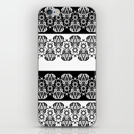Black and white lace pattern . iPhone Skin