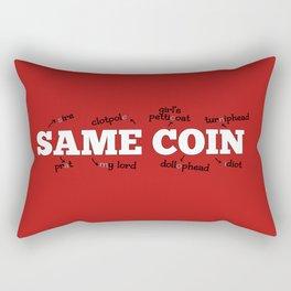 Same Coin - Red Rectangular Pillow