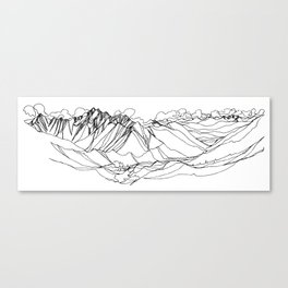 Jumbo, Canada :: Single Line Canvas Print