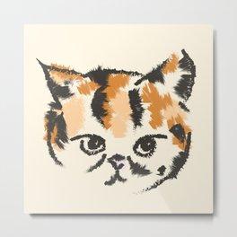Cat Sketch Metal Print