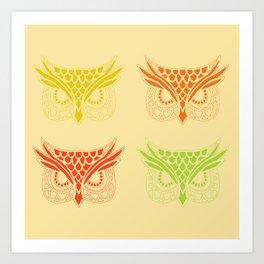 Owl Tribe Art Print