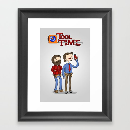 tool time. Framed Art Print