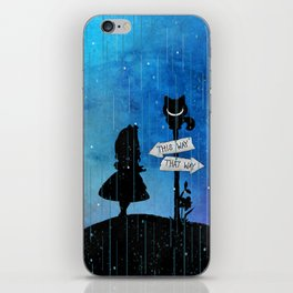 Any Road Will Get You There - Alice In Wonderland iPhone Skin