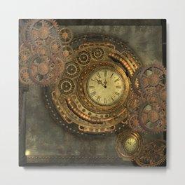 Awesome steampunk design, clockwork Metal Print