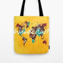world map 123 wanderlust #wanderlust #map Tote Bag