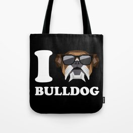 I Love Bulldog modern v2 Tote Bag