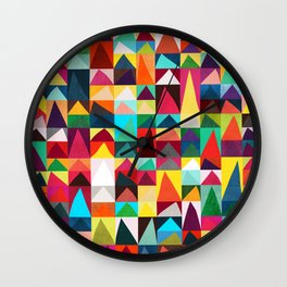 Abstract Geometric Mountains Wall Clock