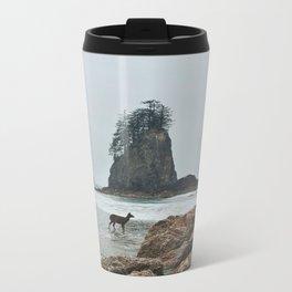 Deer on the Beach Metal Travel Mug
