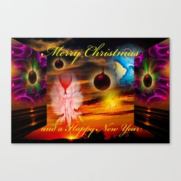 Merry Christmas and a Happy New Year Canvas Print