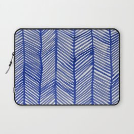 Abstract Leaf Blue Pattern Laptop Sleeve