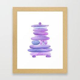 Lavender Stack Framed Art Print