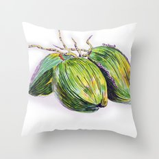 Island life coconut Throw Pillow