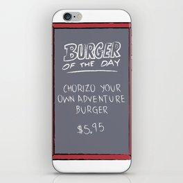 Burger of the Day, Chorizo iPhone Skin