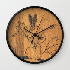 Cute little animal on wood Wall Clock