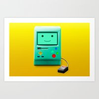bmo Art Prints featuring BMO by Karolis Butenas
