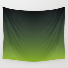 Ombre | Charcoal Grey and Lime Green Wall Tapestry