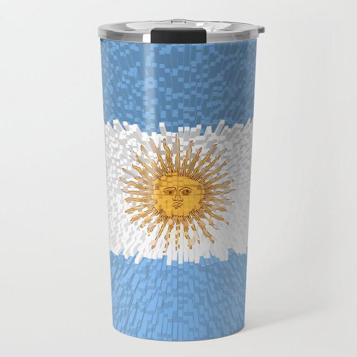 Extruded Flag of Argentina Travel Mug