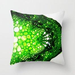 Macro Soya Stem Throw Pillow