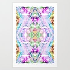 Wildflower kaleidoscope Art Print