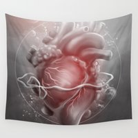 valentine Wall Tapestries featuring Valentine by Nicolas Jamonneau