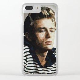Pop Icon Dean James Portrait Clear iPhone Case