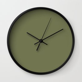Pine Needle Green Solid Color Pairs With Behr Paint's 2020 Forecast Trending Color Secret Meadow Wall Clock