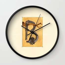 Animal's Alphabet - B for 'Babbuino' Wall Clock