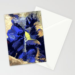 Digging In   -  Motocross Racer Stationery Cards