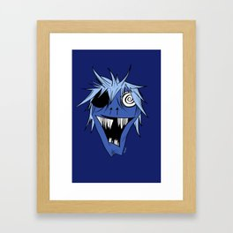 Monster Mash in Deep Blue Framed Art Print