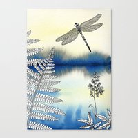 dragonfly Canvas Prints featuring Dragonfly by Alibabaform