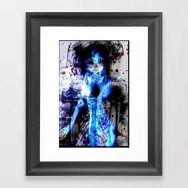 Possession Blue Framed Art Print