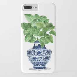 Ginger jar vase, peppermint painting iPhone Case