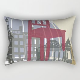 Geneva skyline poster Rectangular Pillow