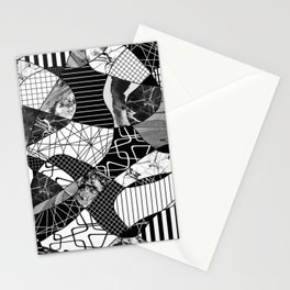 Chaotic Black And White Stationery Cards