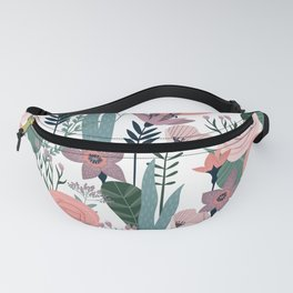 Lovely Midcentury Vintage Wild Rose Pattern Fanny Pack