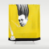 camus Shower Curtains featuring Albert Camus by Zmudartist