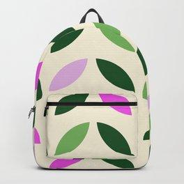 Leaves & Petals - Pink & Green Backpack