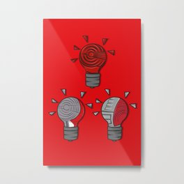 Jordan Lightbulb Soles Metal Print